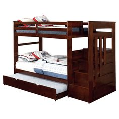 Hokku Designs Monsiac Twin Bunk Bed with Storage & Reviews | Wayfair