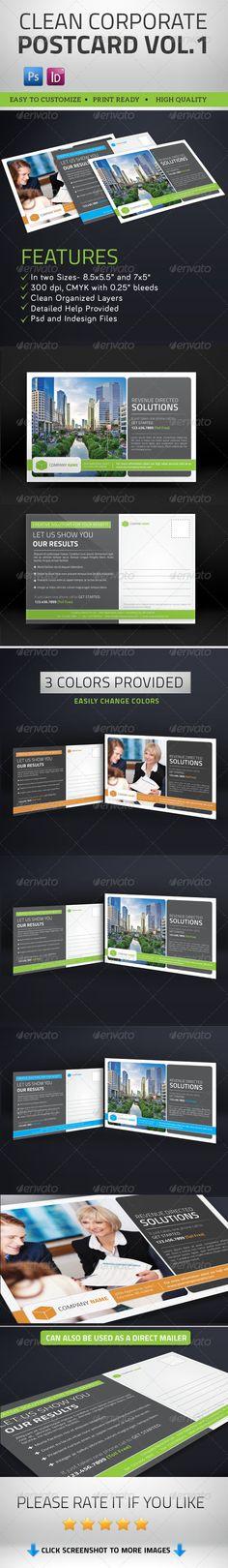 Multipurpose Clean Corporate Postcard Vol1  #graphicriver
