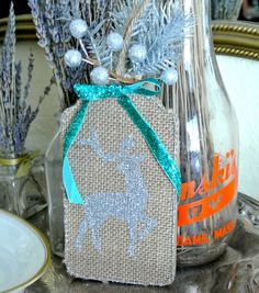 Glittered Hanging Tag