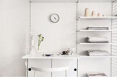 String shelves with working space