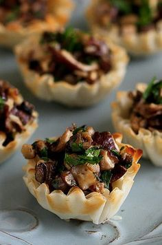 Mini Mushroom & Gorgonzola Bites - the perfect bite size appetizer