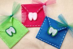 Tooth Fairy Envelope for Teeth letters and Money, Boys and Girls colors available on Etsy, $5.00