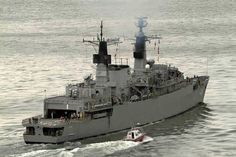 "HMS Brazen/Brazilian Navy Bosísio was a Type 22 frigate of the Royal Navy. She was completed three months ahead of schedule due to the Falklands War. Brazen served on the Armilla Patrol which became a taskforce during the Gulf War. For this she received the battle honour ""Kuwait 1991"".[1] During the war, her Lynx helicopter attacked fast patrol boats.[2] Following a patrol in the South Atlantic Brazen ran aground in the Patagonian Canal on 11 September 1994."
