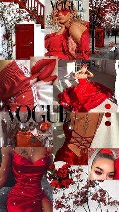 #aesthetic Collage Pictures Red | Aesthetic Pastel
