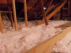 Picardy Project: A Sea of Pink Fluff - Insulating an attic, using the TiVo remote to comminicate between floors Floor Insulation, Save Energy, Attic, Floors, Remote, Sea, Pink, Home Decor, Loft Room