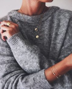 "glamorous-diamond: ""Sweater Necklace Bracelets """