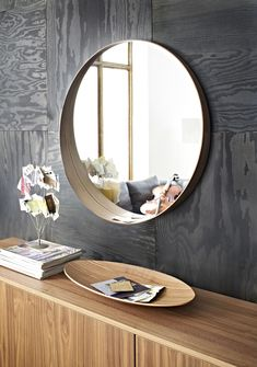 Framed Bathroom Mirrors At Ikea metal framed mirror, antique brass, round | antique brass