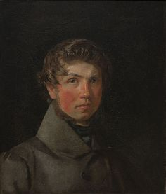 Self-Portrait, 1833 - Christen Schiellerup Købke (1810-1848), Danish painter, born in Copenhagen. He is one of the best known artists belonging to the Golden Age of Danish Painting. In 1832 he shared a studio with friend, landscape painter Frederik Hansen Sødring. In 1838 he received a travel stipend from the Academy, left his new wife & traveled over Dresden & Munich to Italy accompanied by decorative painter Georg Hilker. Statens Museum for Kunst