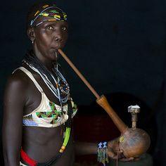 Anuak woman smoking, Gambella, Ethiopia | Anuak woman smokin… | Flickr
