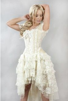 Ophelia Steampunk Corset Dress - this is really cute for a $145 wedding dress