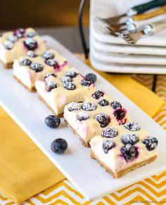 Lemon Blueberry Cheesecake Bars #good #cake