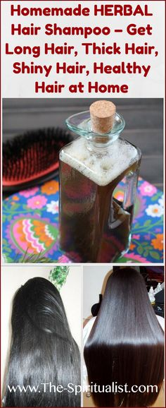 Use This HERBAL Hair Shampoo to Get Long, Thick, Shiny and Healthy Hair at Home That's right, this simple homemade herbal shampoo will make . Natural Hair Care, Natural Hair Styles, Long Hair Styles, Natural Shampoo, Natural Skin, Homemade Beauty, Diy Beauty, Beauty Tips, Beauty Tricks