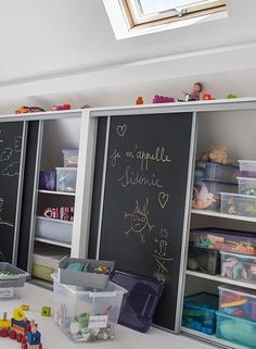 155 clever kids bedroom organization and tips ideas -page 5 Kids Bedroom Organization, Clever Kids, Painted Cupboards, Toy Rooms, Kid Spaces, Home Bedroom, Kids Furniture, Room Inspiration, Kids Room