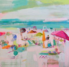 lovers of mint: Beaches par Teil Duncan Illustrations, Illustration Art, Art Plage, Deco Boheme, Blog Deco, Art Design, Beach Art, Oeuvre D'art, Landscape Art