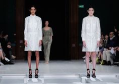 Hussein Chalayan - Spring/Summer 16 Palais des Beaux-Arts water soluble lab coats