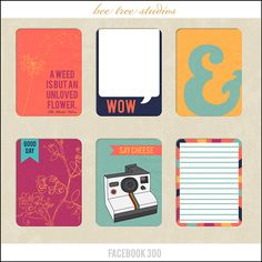 Journal cards freebie from Bee Tree Studios #ProjectLife #Printable