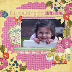 Walking on Sunshine - Scrapbook.com - #scrapbooking #layouts