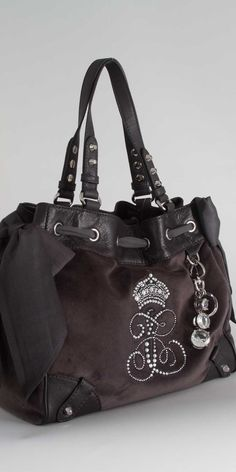 Juicy Couture Velour Daydreamer Bag in Pewter. $228.00