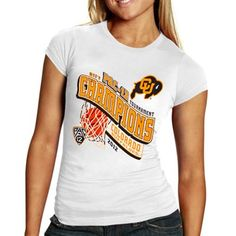 Colorado Buffaloes Women's 2012 Pac-12 Conference Champions T-Shirt - White