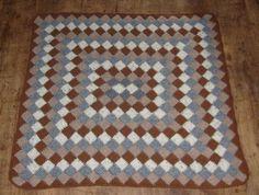 entrelac crochet   ... blog - I learnt a new technique.....Tunisian entrelac crochet