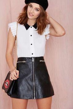 Cut Class Blouse - Clothes
