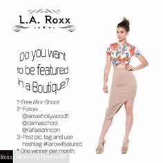 Credit to @laroxxhollywoodfl : LA ROXX GET FEATURED CONTEST Official Rules 1. Email rafael@rshoot.com to schedule your free Mini-Shoot. 2. Follow @damaschool, @laroxxhollywoodfl and @rafaeldrincon 3. Post your picture from the Mini-Shoot, tag @damaschool, @laroxxhollywoodfl and @rafaeldrincon, hashtag #laroxxgetfeatured and tag 3 friends. 4. Every month one winner will be selected. You can participate every month following rule #3. 5. Expect a surprise gift for the winner. 6. You can only be…