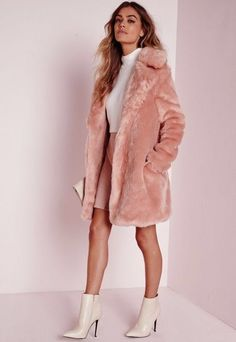 Pink faux fur coat… Edgy, Chic, and impossible to miss when you walk into a ro… - Clothing World Pink Faux Fur Coat, Faux Fur Jacket, Faux Fur Coats, Pink Fur Jacket, Pink Fluffy Jacket, Long Pink Coat, White Fur Coat, Fluffy Coat, Fur Fashion