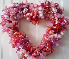 Crafty Sisters: Ribbon Heart Wreath
