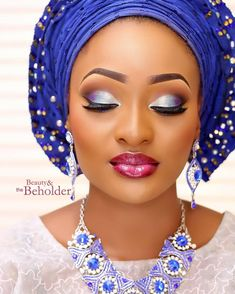 Exquisite! @rougerose.x #WellDoneMakeover @beautyandthebeholdermakeovers  Aso Oke by @kejidairo  Jewellery by @frimscrafts #TradLook #9naijaBrides