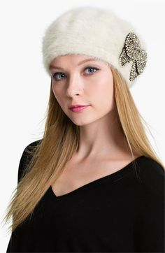 Betsey Johnson Angora Blend Beret available at #Nordstrom  On my Christmas list! Love!