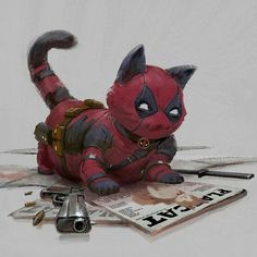 Artist Re-Imagines Cats As Marvel And DC Superheroes And We Love It! - World's largest collection of cat memes and other animals Lego Marvel, Ms Marvel, Marvel And Dc Superheroes, Marvel Art, Marvel Characters, Marvel Comics, Comic Art, Comic Books, Fat Art