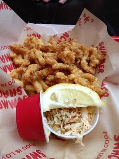 Fried clam strips from Summer Shack in CT