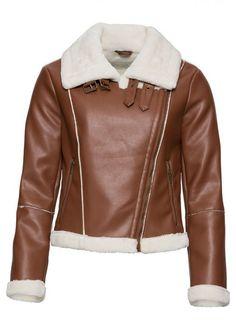 Geacă biker cu blăniță bonprix - Geci si paltoane (1) Flirt, Saint Laurent, Leather Jacket, Adidas, Jackets, Bikers, Outfits, Mall, Products