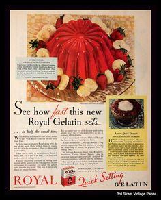 Retro Recipes, Vintage Recipes, Retro Vintage, Vintage Food, Vintage Images, 1930s Recipe, Banana Dessert, Food Advertising, Vintage Packaging