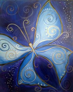 Blue Butterfly | http://creativelyuncorked.com