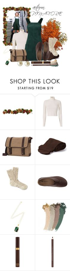 """""""Pinafore"""" by mrs-tozahj ❤ liked on Polyvore featuring Nearly Natural, A.L.C., Goodhope Bags, Biba, Smartwool, VIVOBAREFOOT, Ottoman Hands, Gucci, Tom Ford and Chantecaille"""