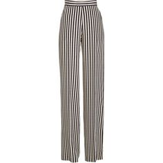 Etro Striped High-Waisted Wide Leg Silk Pants