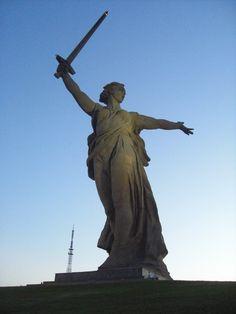 Mother Russia in Volgograd Russia