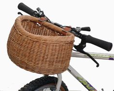 "old style bicycle basket, reminds me of Toto and Dorothy in ""The Wizard of Oz""."