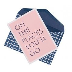 GREETING CARD: OH PLACES YOU WILL GO