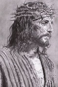 by TheSignmaker on DeviantArt Jesus Artwork, Jesus Christ Painting, Pictures Of Jesus Christ, Jesus Christ Images, Jesus Drawings, Image Jesus, Jesus Tattoo, Jesus Wallpaper, Jesus Face