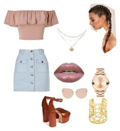 """""""Untitled #23"""" by boujeejay ❤ liked on Polyvore featuring Miss Selfridge, MINKPINK, Brother Vellies, Topshop and Movado"""