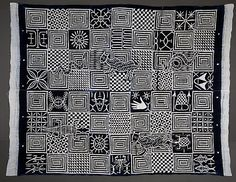 Ukara cloth Igbo peoples Nigeria 1983 Cotton, indigo dye H x W: 256.5 x 198.1cm. (100 x 78 in.) Loan, Fowler Museum at UCLA, FMCH X84.24 The Nigerian ideographic script nsibidi was developed by the Ejagham peoples, but its use now extends to their neighbors, the Igbo and Ibibio. Nsibidi encodes secret knowledge that is not readily accessible to outsiders. Its power is linked in part to the public display of masks and textiles embellished with nsibidi that people see but might.. READ on