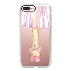 Ballerina En Pointe Ballet Dancer Illustration by Joanna Baker -... ($40) ❤ liked on Polyvore featuring accessories, tech accessories, iphone case, iphone cover case, iphone cases, slim iphone case and apple iphone case