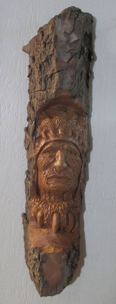 The latest addition to my #etsy shop carved from cottonwood bark: Native American War Chief Wood Carving, One of a Kind, Art, Rustic Log Cabin Decor, Hand carved in Missouri http://etsy.me/2ooN3Tu #art #sculpture #handcarved #woodcarving #rusticdecor