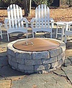 "Fire pit covers.Conical 6"" tall for rain run off,debris,keeps out rodents.2 styles  Mild carbon steel with heat powder coat or type 304 never rust stainless steel.http://www.MinnesotaFirePits.com"