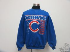 Vtg 90s Russell Athletic Chicago Cubs Crewneck Sweatshirt sz XL Extra Large MLB #RussellAthletic #ChicagoCubs  #tcpkickz