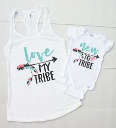 Mom and Baby Matching Outfits - Mother Baby Matching Shirts - Mommy and Me Shirt Set - Love My Tribe Shirt - New to the Tribe Bodysuit