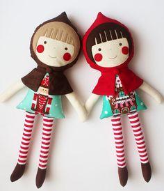 Christmas personalized doll. Handmade rag doll. Cloth by blita