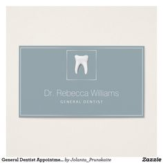 Dentist appointment reminder cards dental office dentist general dentist appointment reminder business card reheart Choice Image
